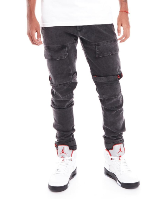 8&9 MFG. - Strapped Up Utility Pants Red Vintage Washed (PSTRGRYRED)