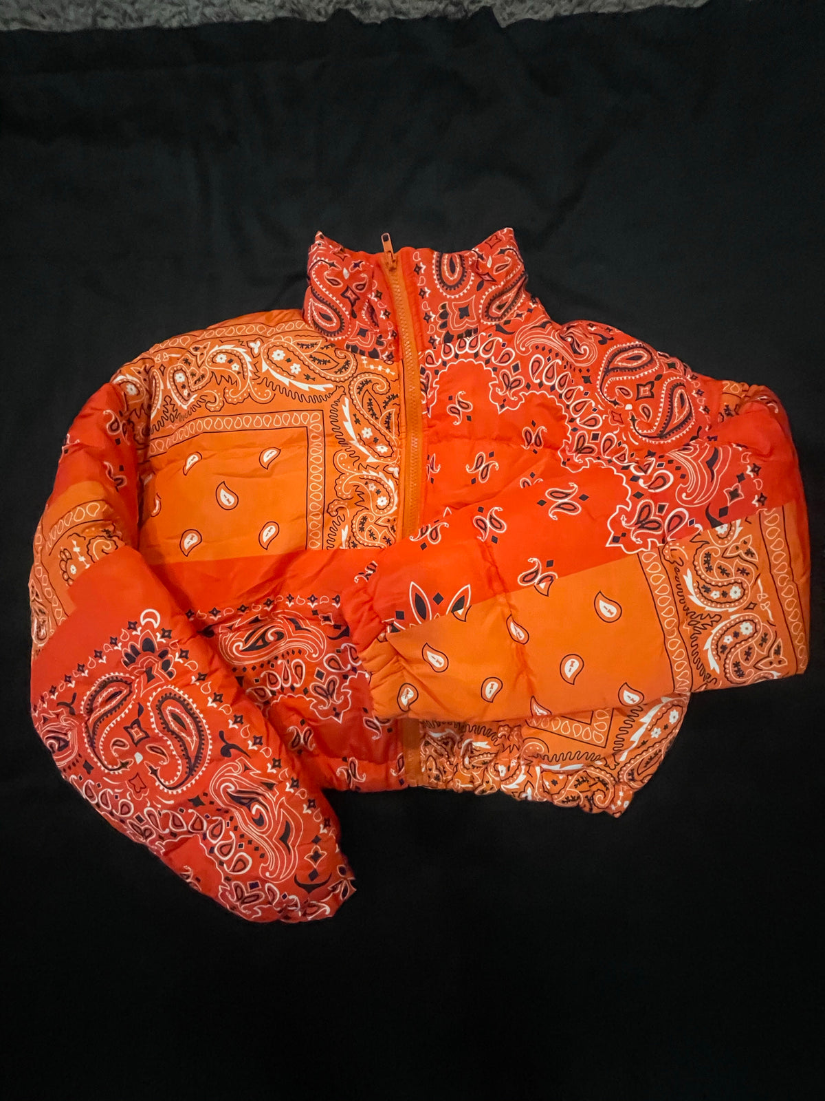 FEMALE BANDANA COAT - ORANGE