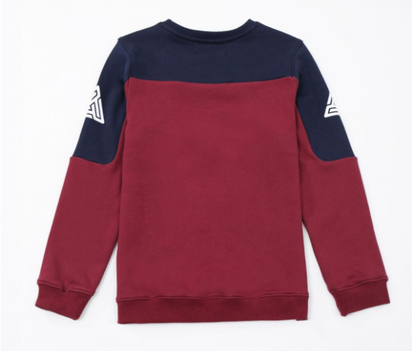 KIDS Pyramid Jersey Crewneck Burgandy (YKO810019) - cosign1975