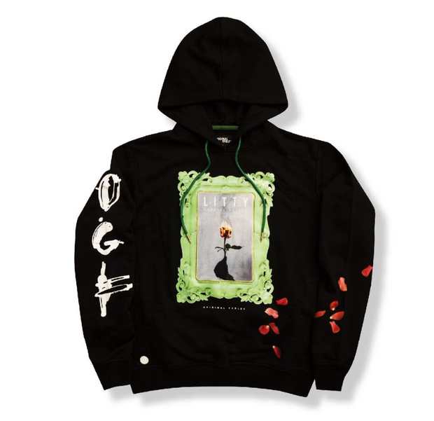 "ORIGINAL FABLES - ""LITTY"" PULLOVER HOODIE (H920) - BLACK - cosign1975"