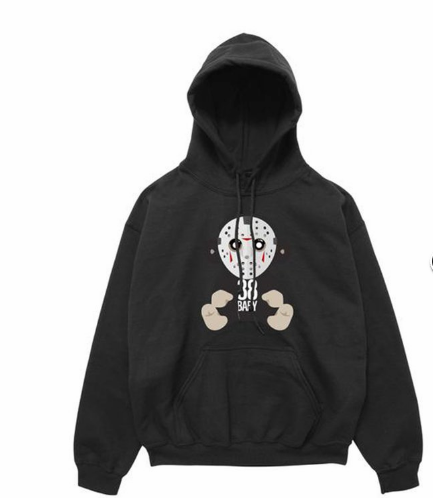 38 BABY MONKEY JASON MASK HOODY - BLACK - cosign1975