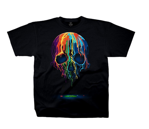 PREMIUM T-SHIRT LOUNGE - MELTING SKULL (31753)