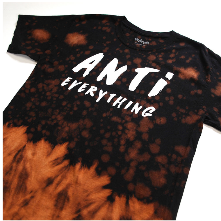 Anti Everything Vintage Tie Dye Tee (EFQ16ANT31) - cosign1975