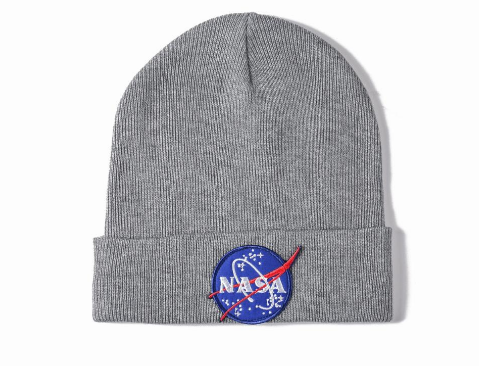 NASA Meatball Logo Beanie grey  (H7052408) - cosign1975