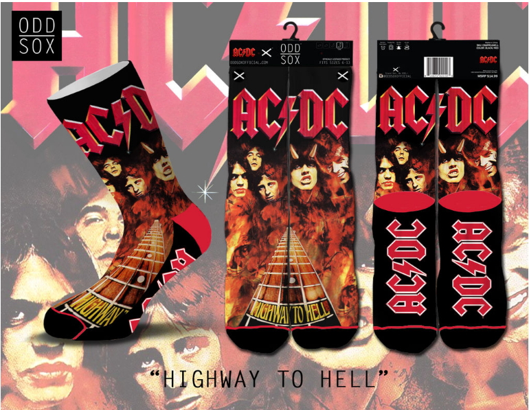 Odd Sox - Highway to Hell (Standard) (OSSPR16HELL) AC/DC - cosign1975