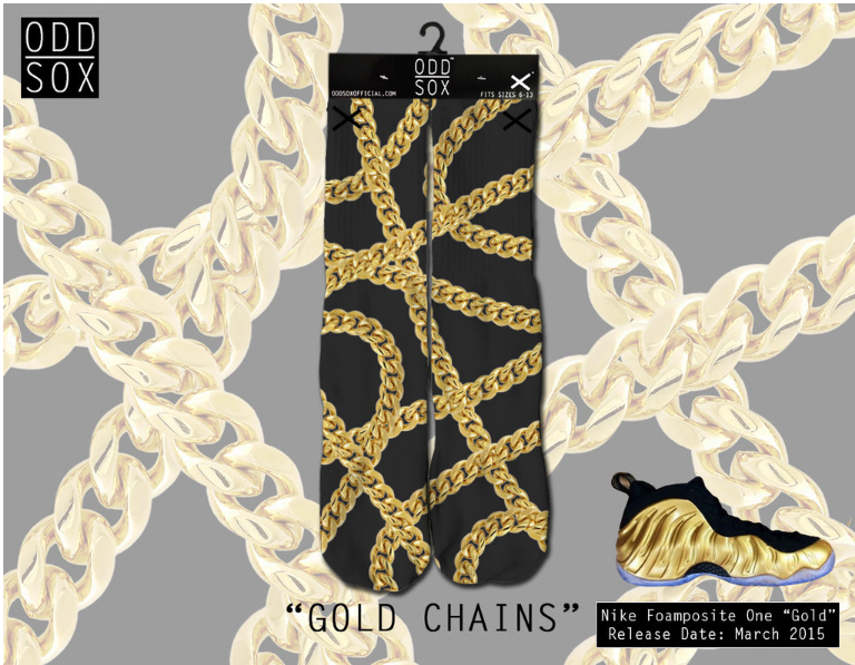 Odd Sox - Gold Chains (OSSPR1GOLD) - cosign1975