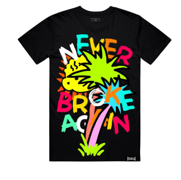 NEVER BROKE AGAIN - PALM TREE TSHIRT (PALMTREETEEBLK)