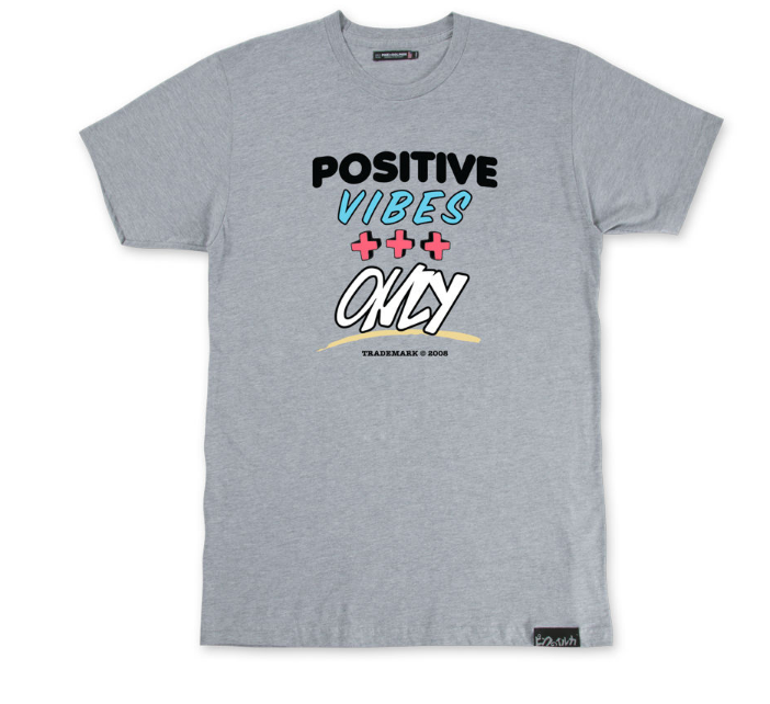 POSITIVE VIBES TEE GREY - cosign1975