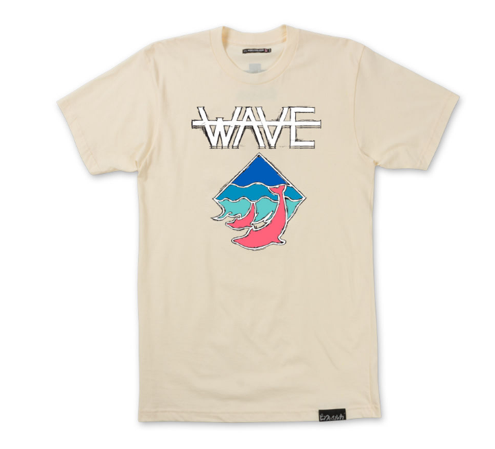 Pink Dolphin - WAVE TEE (PS11711WAOW) - cosign1975