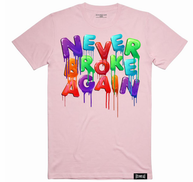 NEVER BROKE AGAIN DRIP COLORS TSHIRT (DRIPCOLORSPINKTEE) - cosign1975