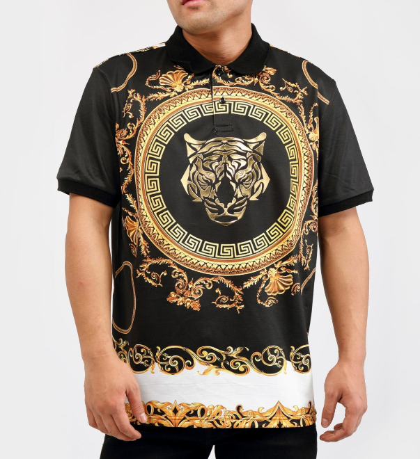 HUDSON - Meander Panther Polo (H1052703) BLACK - cosign1975