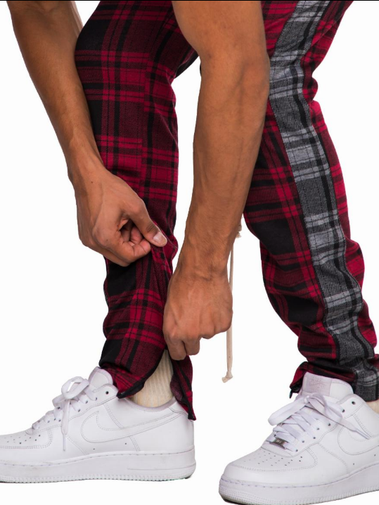 EPTM RED PLAID TRACK PANTS (EP8698) - cosign1975
