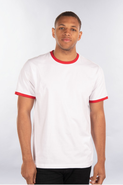 CITY LAB - White/Red - RINGER T-Shirt (TT014) - cosign1975