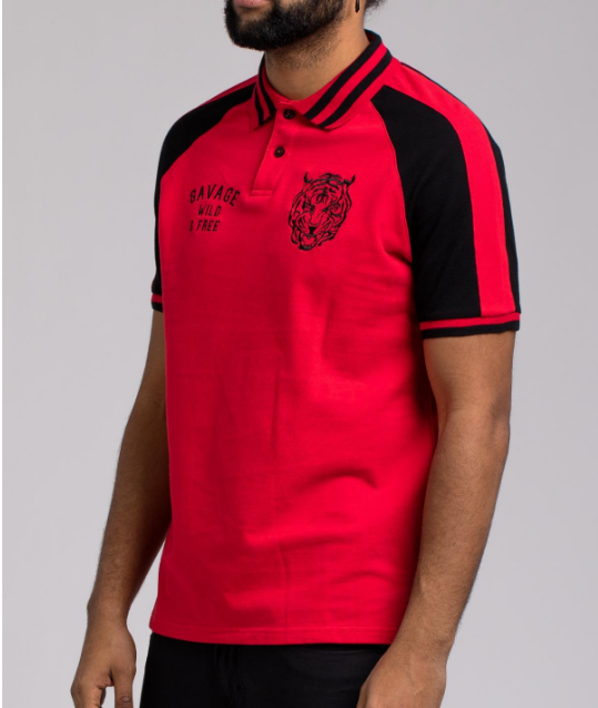 Savage Polo Shirt - red - cosign1975