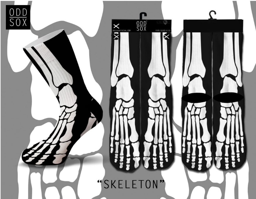 Odd Sox - Skeleton (Knit) (OSFALL2SKEL) - cosign1975