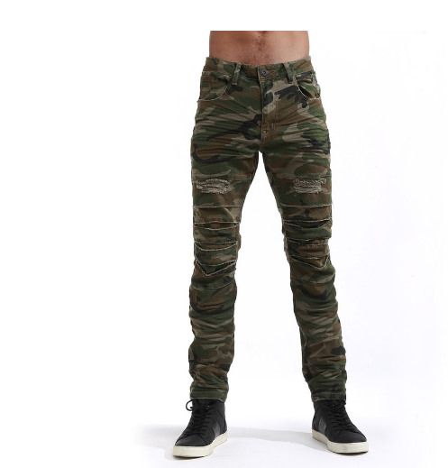 WOOD CAMO SLIM DENIM JP7120 - cosign1975