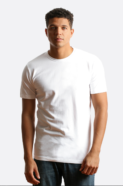 CITY LAB - STRETCH Slim Fit T-shirt, Crew White - cosign1975