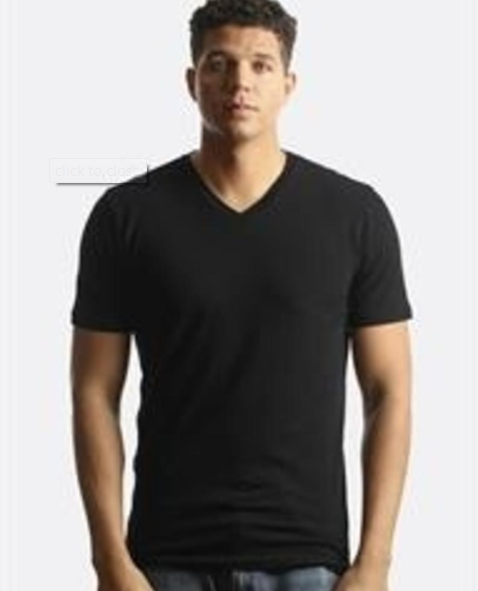 CITY LAB - STRETCH Slim Fit T-Shirt, V - V2011SPAN - BLACK