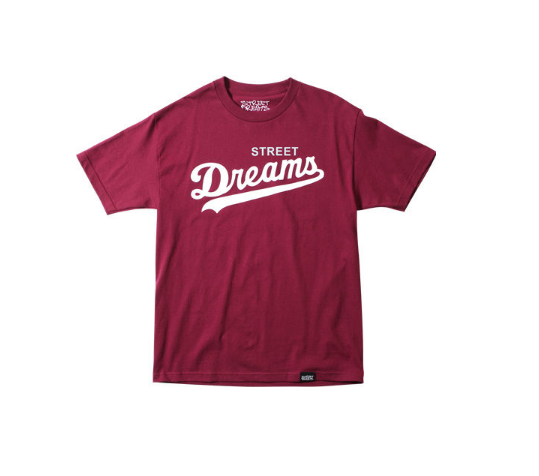 STREET DREAMS CORE TEE - BURGANDY - cosign1975