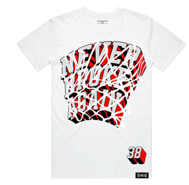 NEVER BLACK AGAIN - SWISH TSHIRT (SWISHTEEWHT)