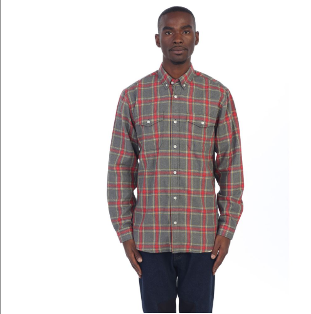 SIDE ZIP FLANNEL (EP7464) Grey - cosign1975