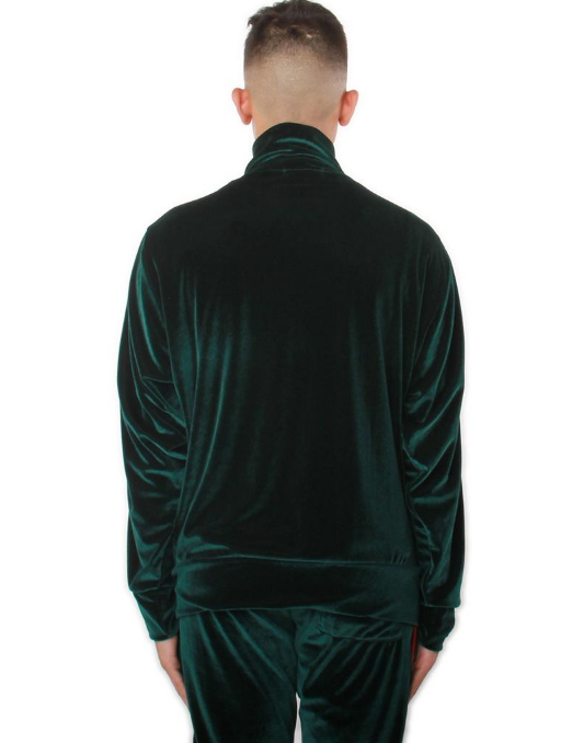 Green VELOUR TRACK JACKET (EP7958) - cosign1975