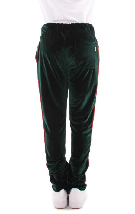 Green VELOUR TRACK PANTS (EP7955) - cosign1975
