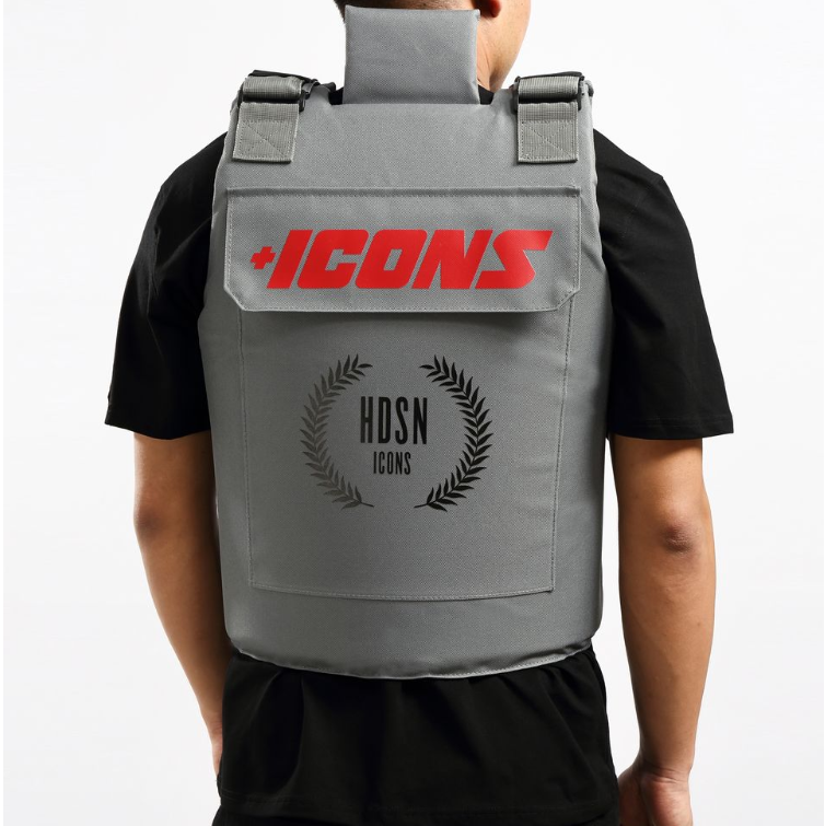 Hudson - Icons Vest (H6052768) Grey/Red - cosign1975