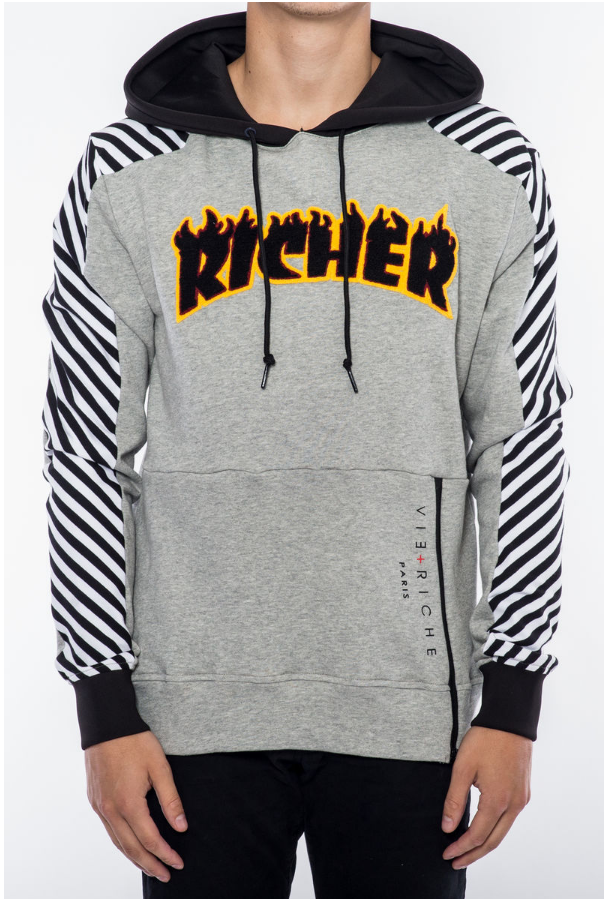 RICHER HOODY V5070785-HTR GRY - cosign1975