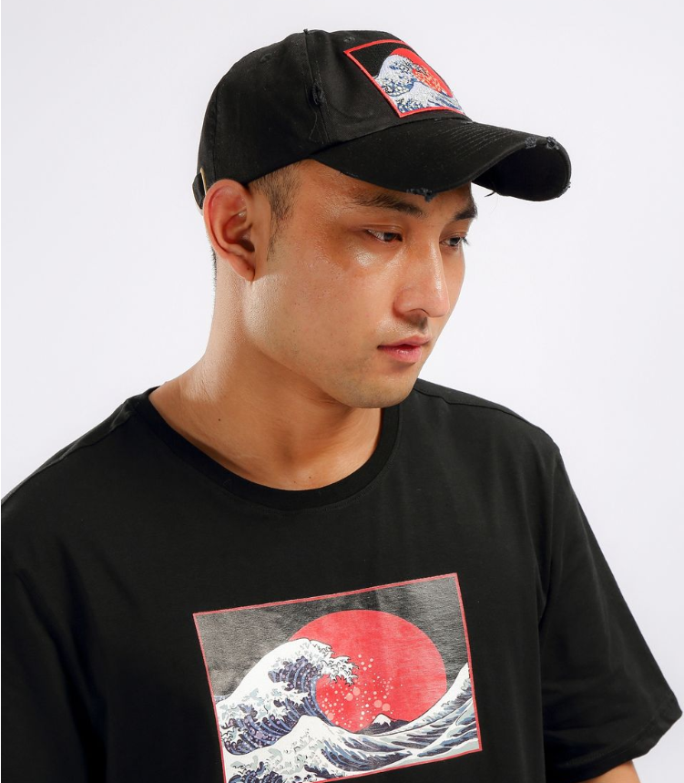 Hudson - The Wave Shirt & Hat (H1052801KIT)- Black - cosign1975