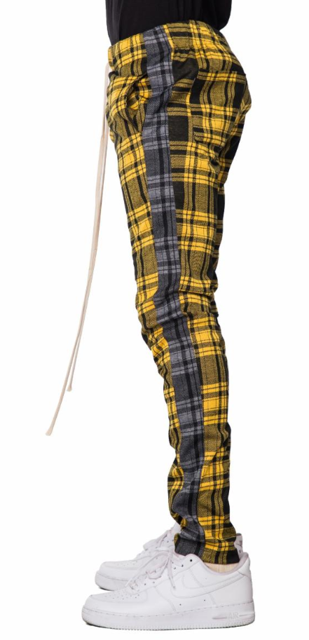 EPTM YELLOW PLAID TRACK PANTS (EP8699) - cosign1975