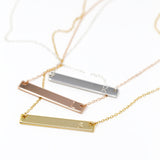 Letter Bar Necklace