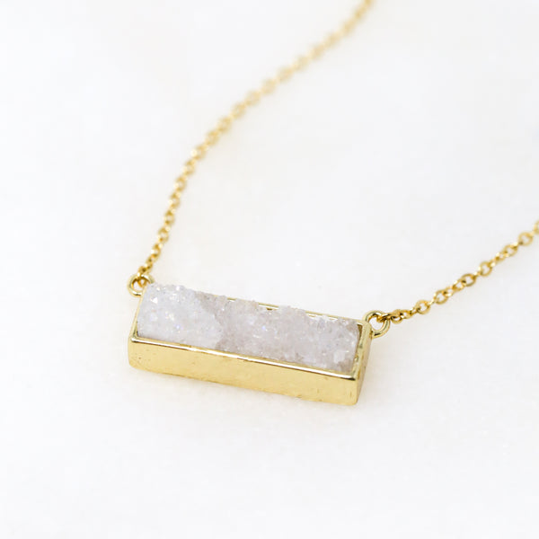 Slice of Druzy Necklace