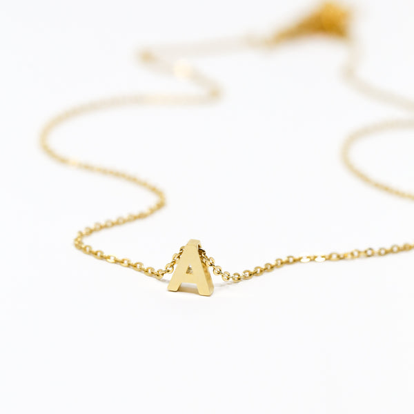 Tiny Letter Necklace