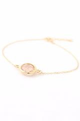 Gold Teardrop Earring & Circle Bracelet Set - Bridesmaid Gifts