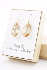 Swarovski Crystal Earrings - Bridesmaid Gift