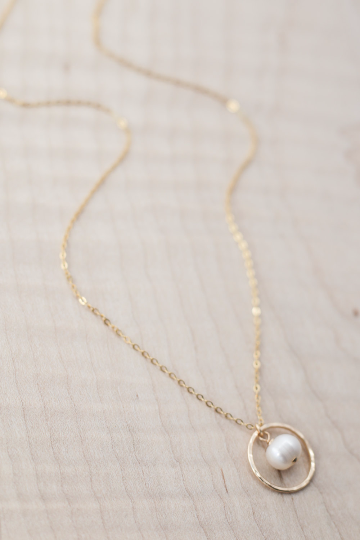 eternity necklace with pearl mother of the bride gift for the maids
