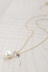 Freshwater Pearl Drop Necklace - Bridesmaid Gift