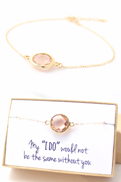 Gold Circle Bracelet - Bridesmaid Gifts