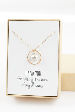Eternity Necklace with Pearl - Mother of the Groom Gift