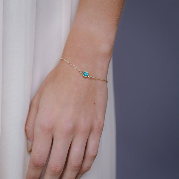 Simple Birthstone Bracelet