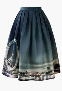 London Ferris  Pleated Midi Skirt