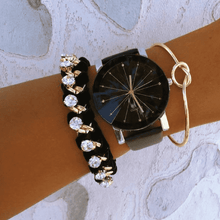 Load image into Gallery viewer, Black and Gold Statement Watch