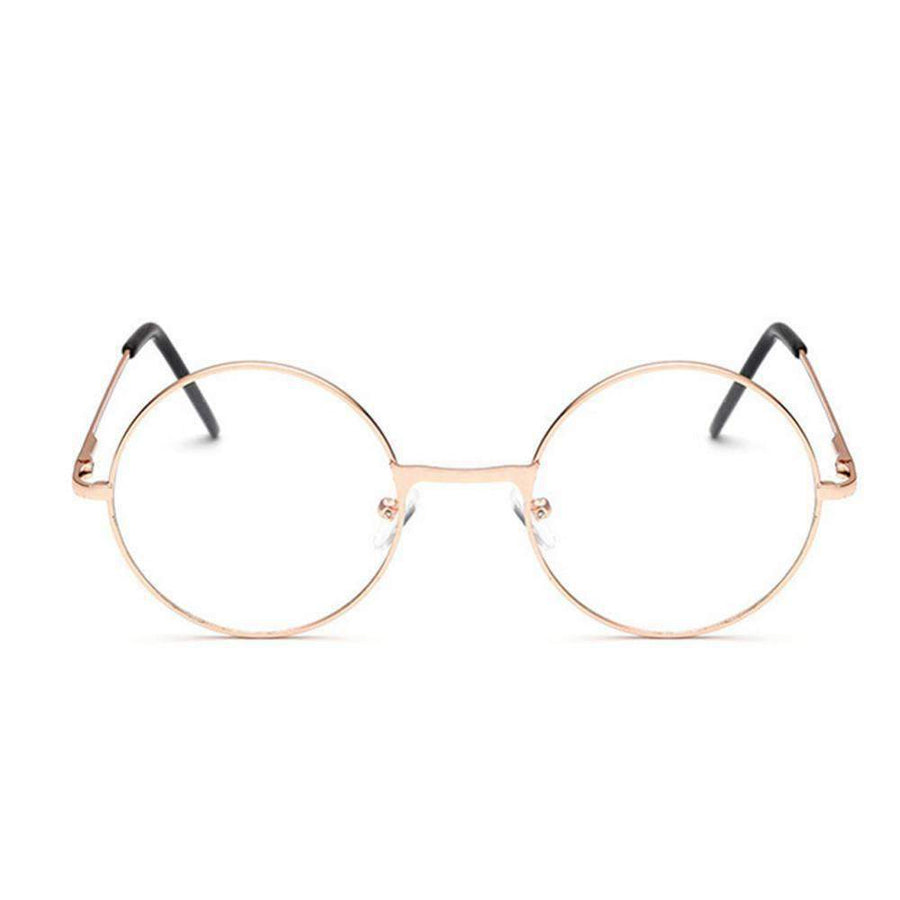 Round Metal Frame Glasses With Clear Lens – StyleStacker
