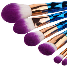 Load image into Gallery viewer, Rainbow Makeup Brush Set