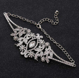 Hollow Out - Rhinestone Engagement Choker