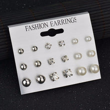 Load image into Gallery viewer, 6 pair set - Gorgeous Stud Earrings