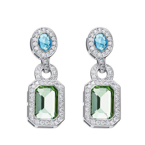 Vintage Earrings with Swarovski Crystals