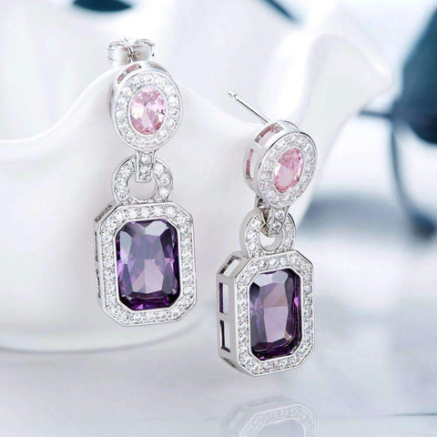 Image of Vintage Earrings with Swarovski Crystals