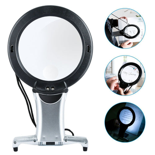 Hands Free - Magnifying Glass with LED